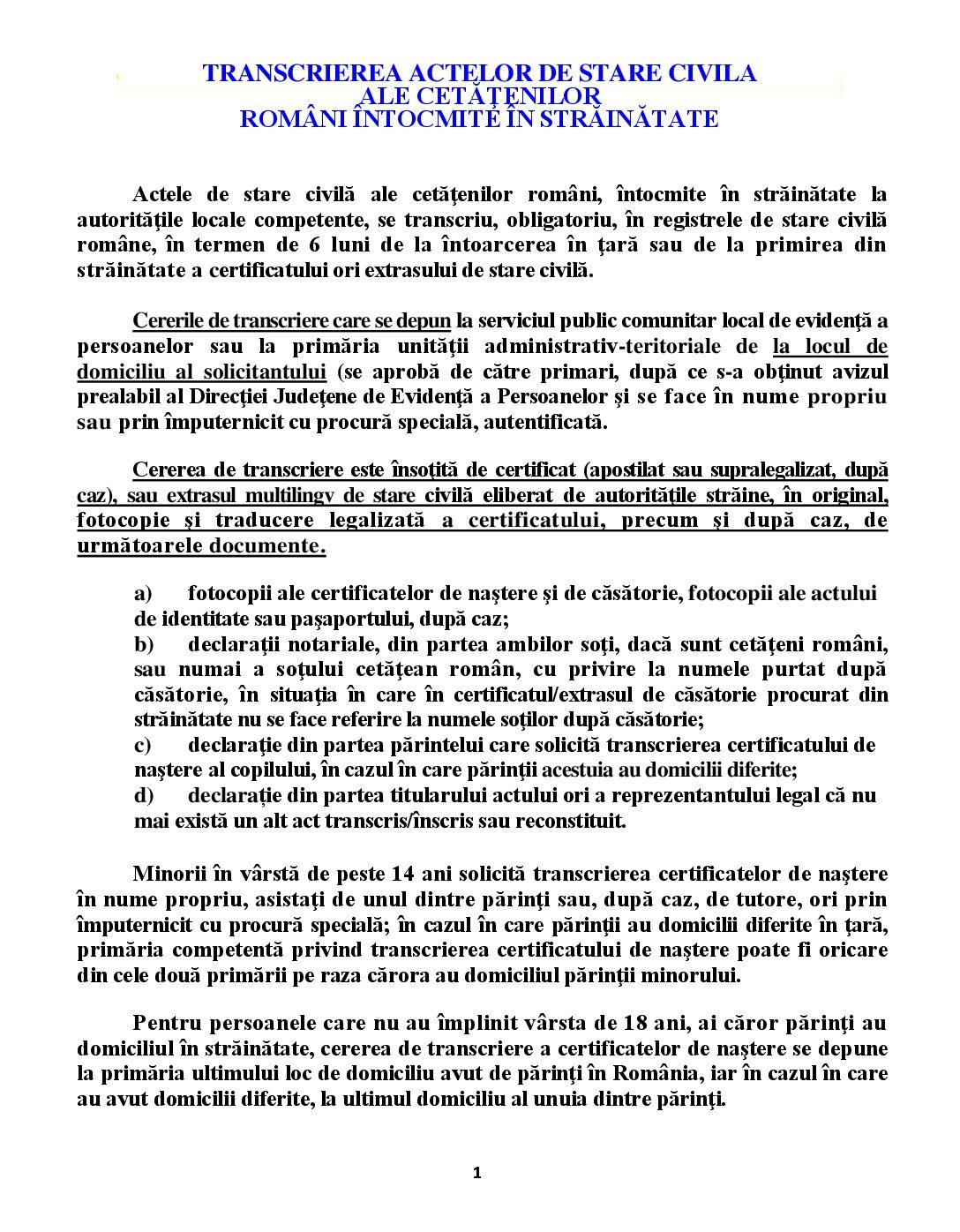 Programare online certificate de stare civilă